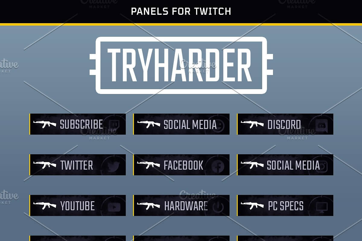 Tryharder - Twitch Panels