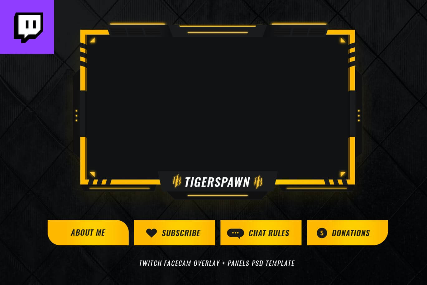 Twitch Facecam Overlay V5