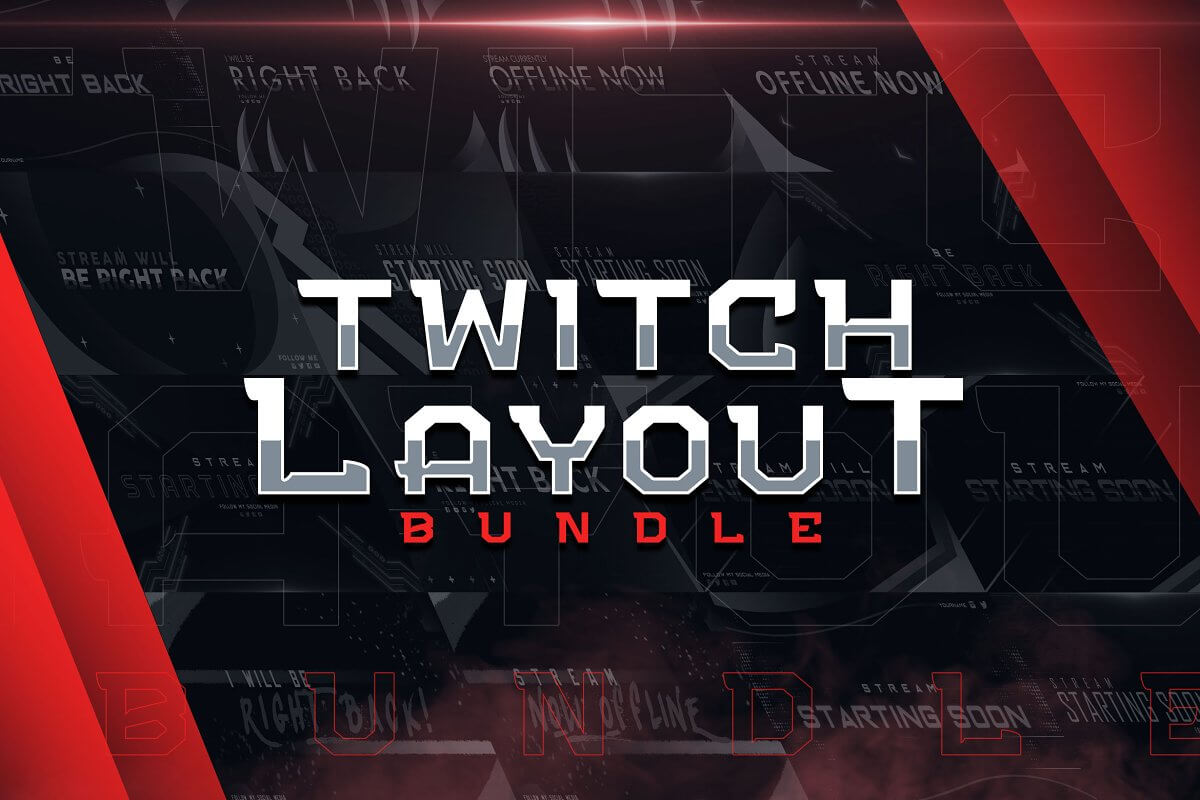 Twitch Layout Creator Bundle