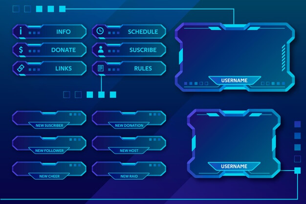 Twitch stream panels Free Vector (1)