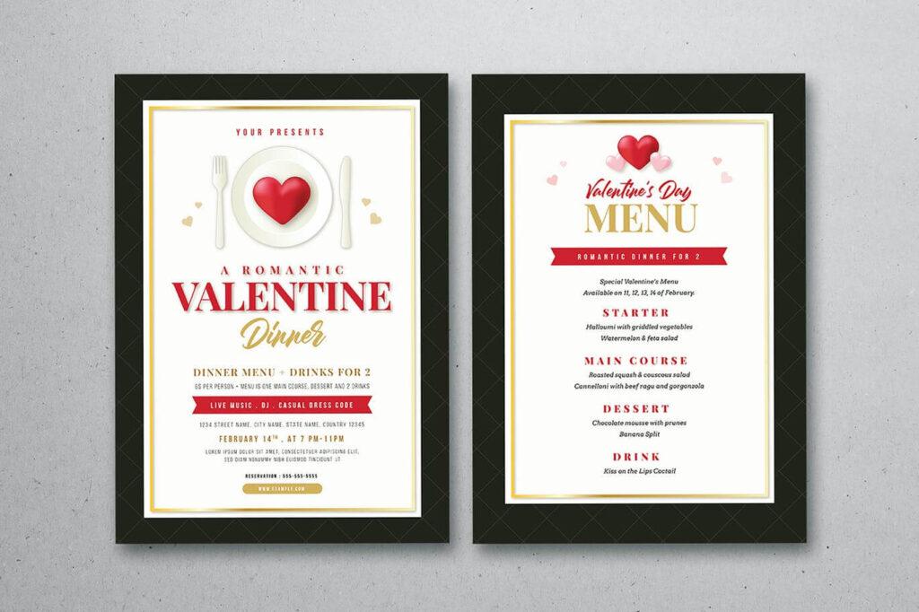 Valentine Dinner & Menu Template