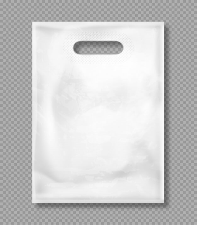 Vector mockup of white plastic bag Free Vector