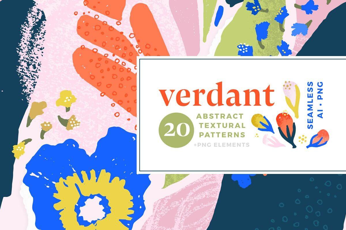 Verdant Abstract Seamless Patt... (1)