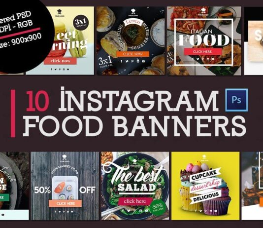 10 Instagram Food Banners