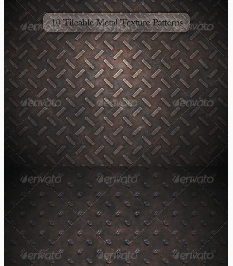 10 Tileable Metal Texture Patterns