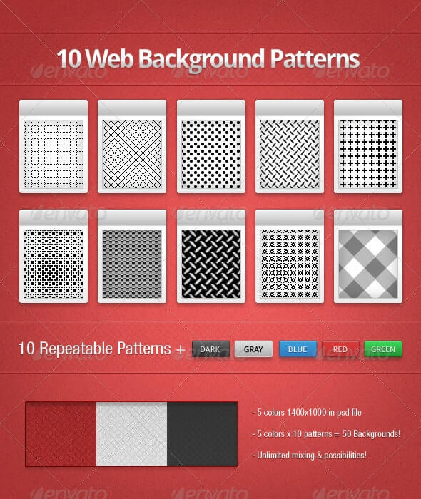 10 Web Background Patterns
