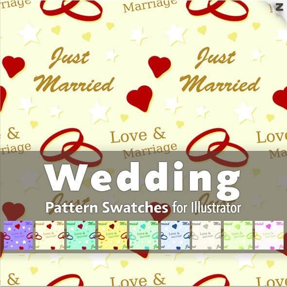 10 Wedding Pattern Swatches