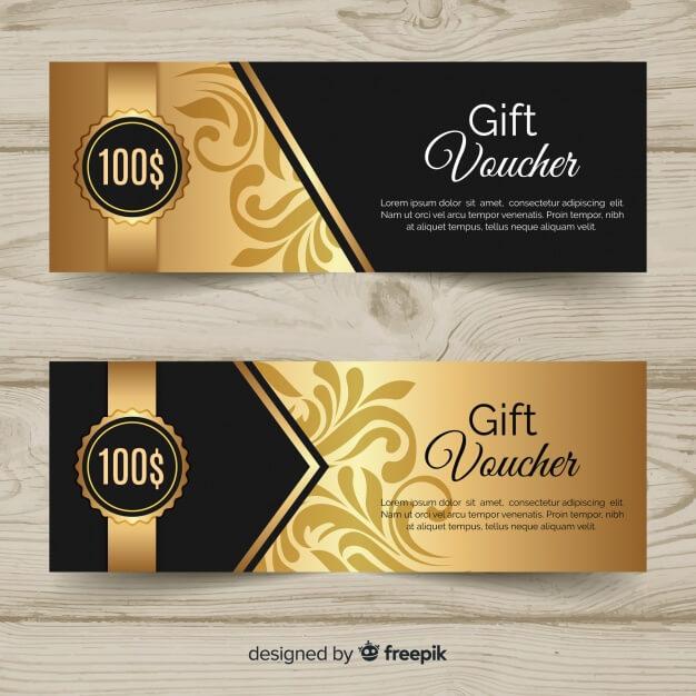 100$ gift voucher Free Vector1