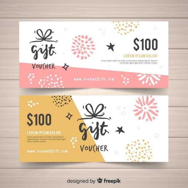 100$ gift voucher Free Vector2