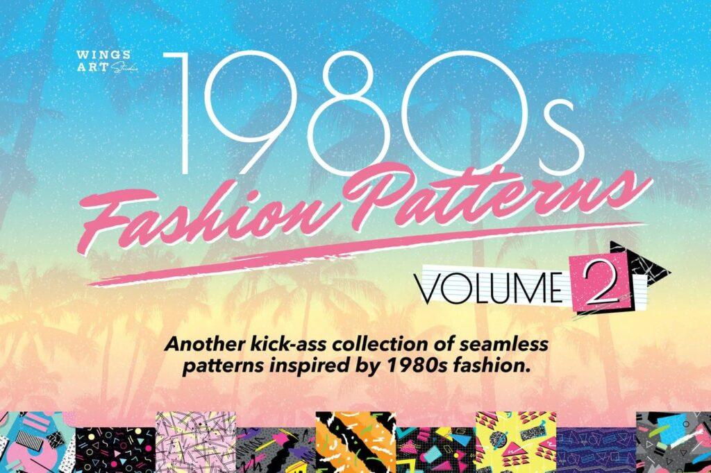 1980s Retro Patterns Volume Two
