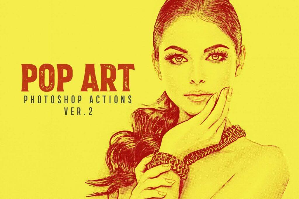 20 Pop Art Photoshop Actions Ver. 2