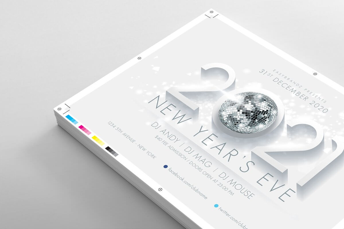 2021 New Years Flyer Template