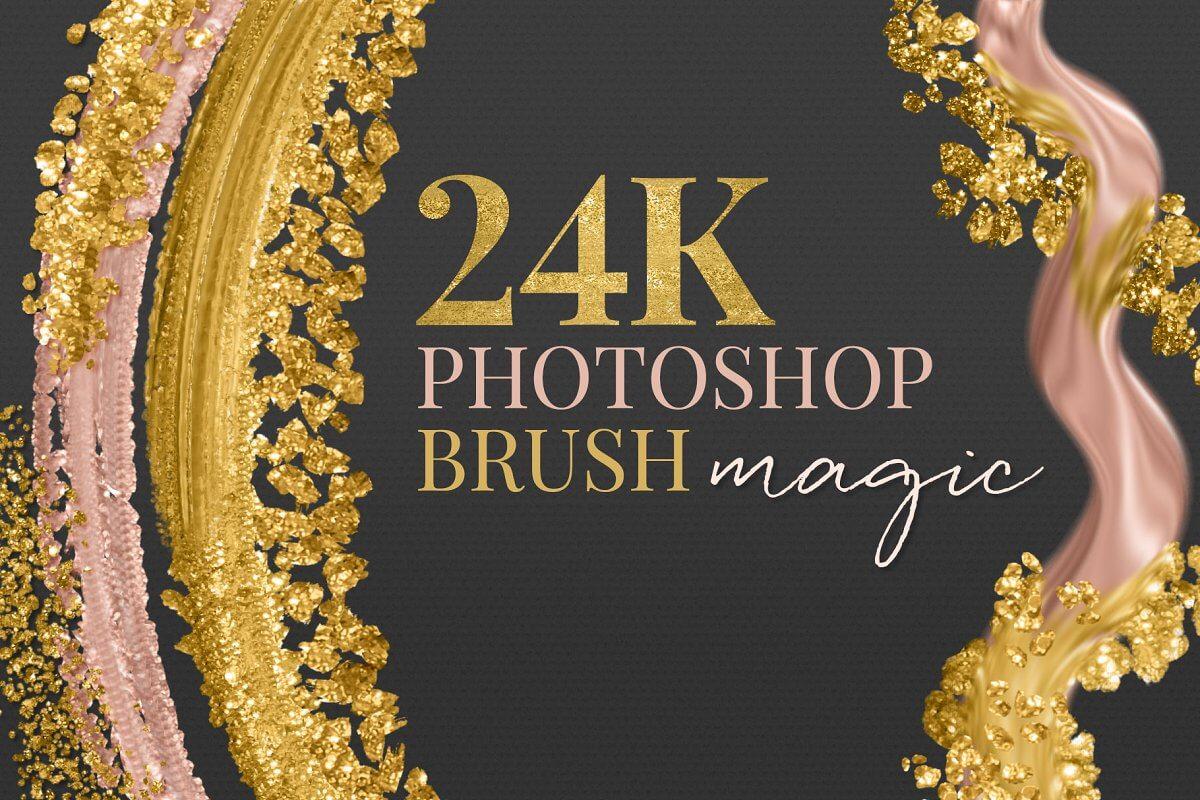 24K Metallic Gold Brush Gold Effects