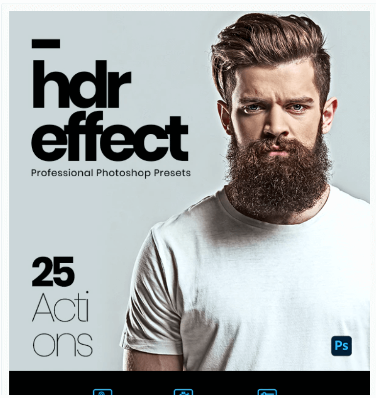 25 HDR Effect Photoshop Actions