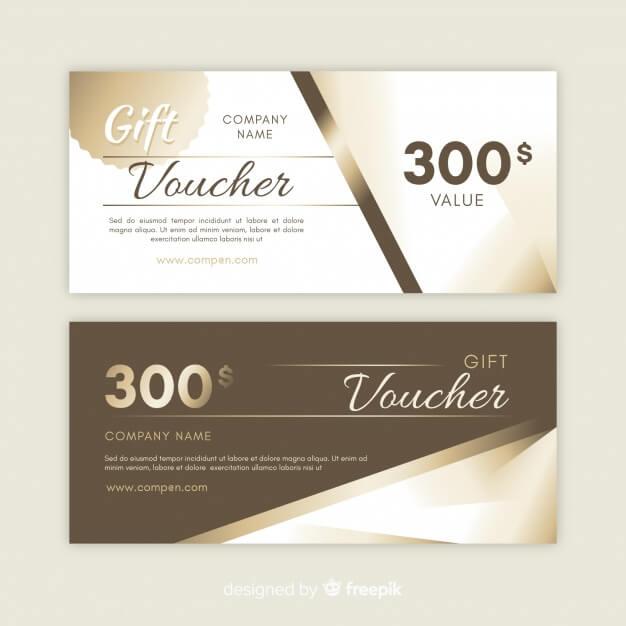 300$ gift voucher Premium Vector