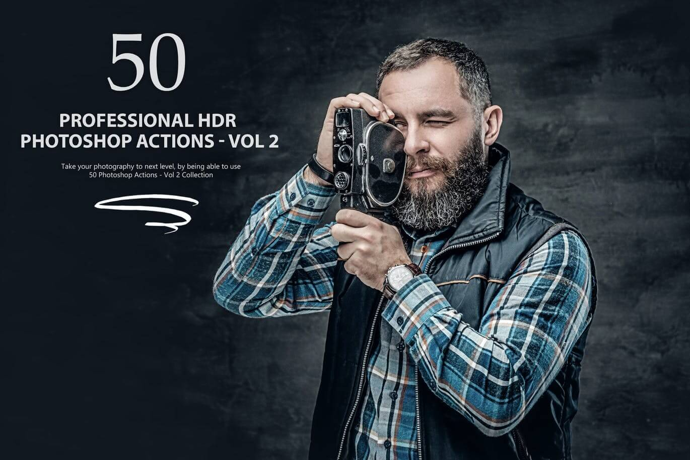 50 HDR Photoshop Actions - Vol 2