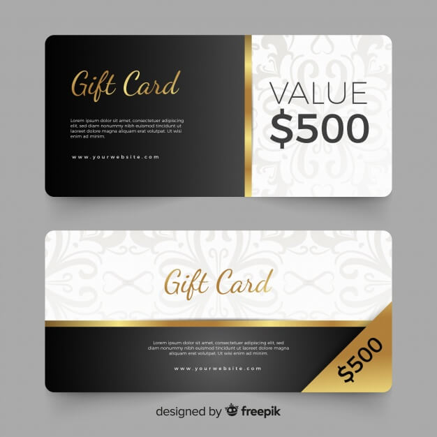 500$ gift card Free Vector