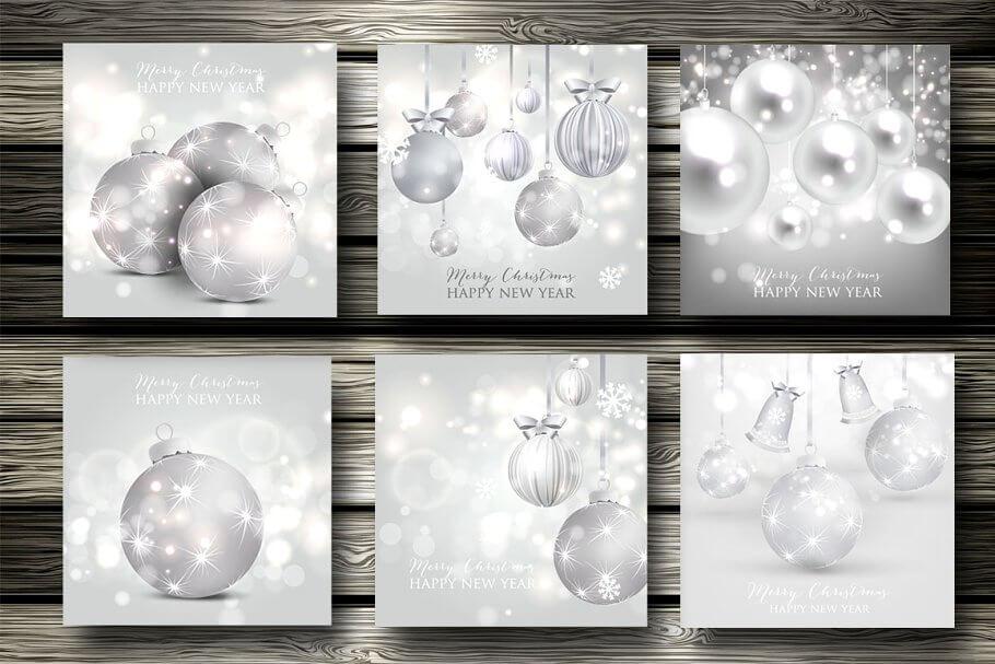 6 Christmas cards