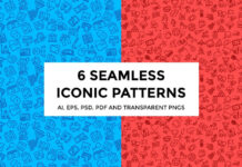 6 Seamless Iconic Patterns