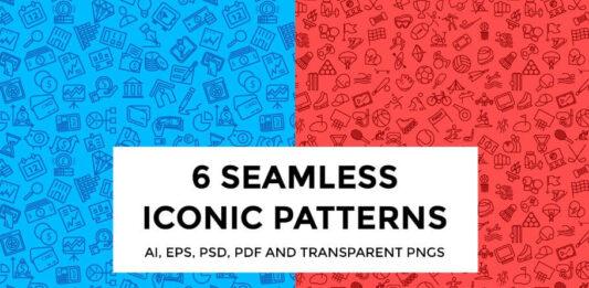 6 Seamless Iconic Patterns