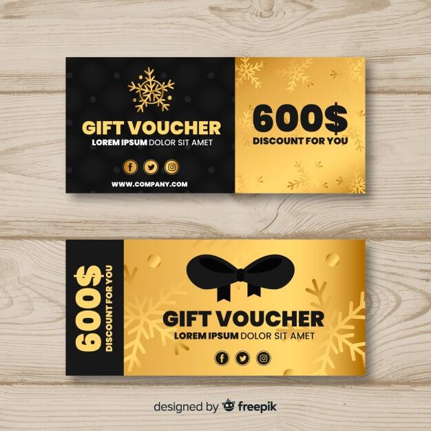 600$ gift voucher Free Vector