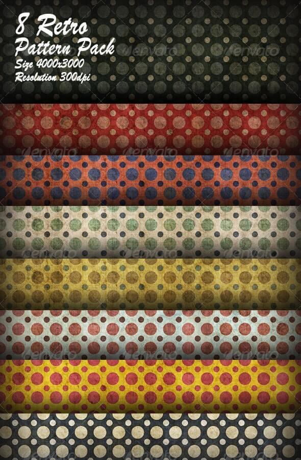 8 Retro Pattern Pack