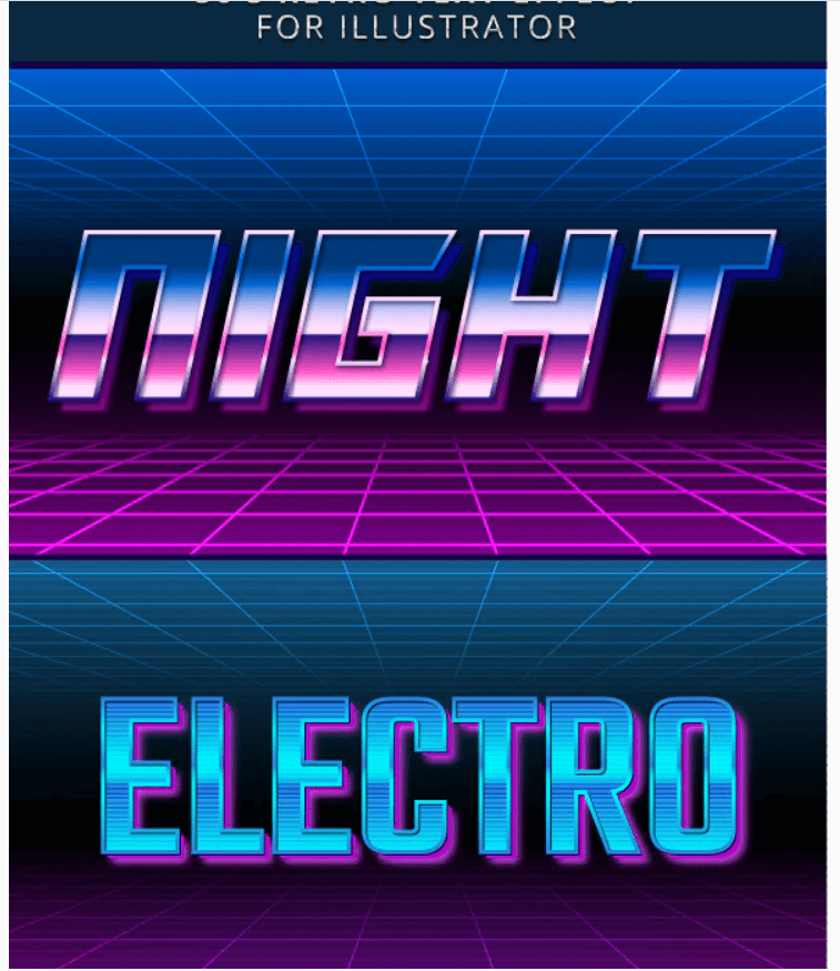 80s Retro Text Effect for Illustrator