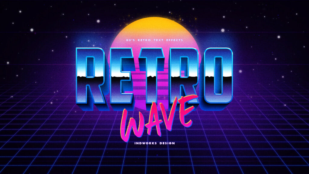 80's Retro Text Effects