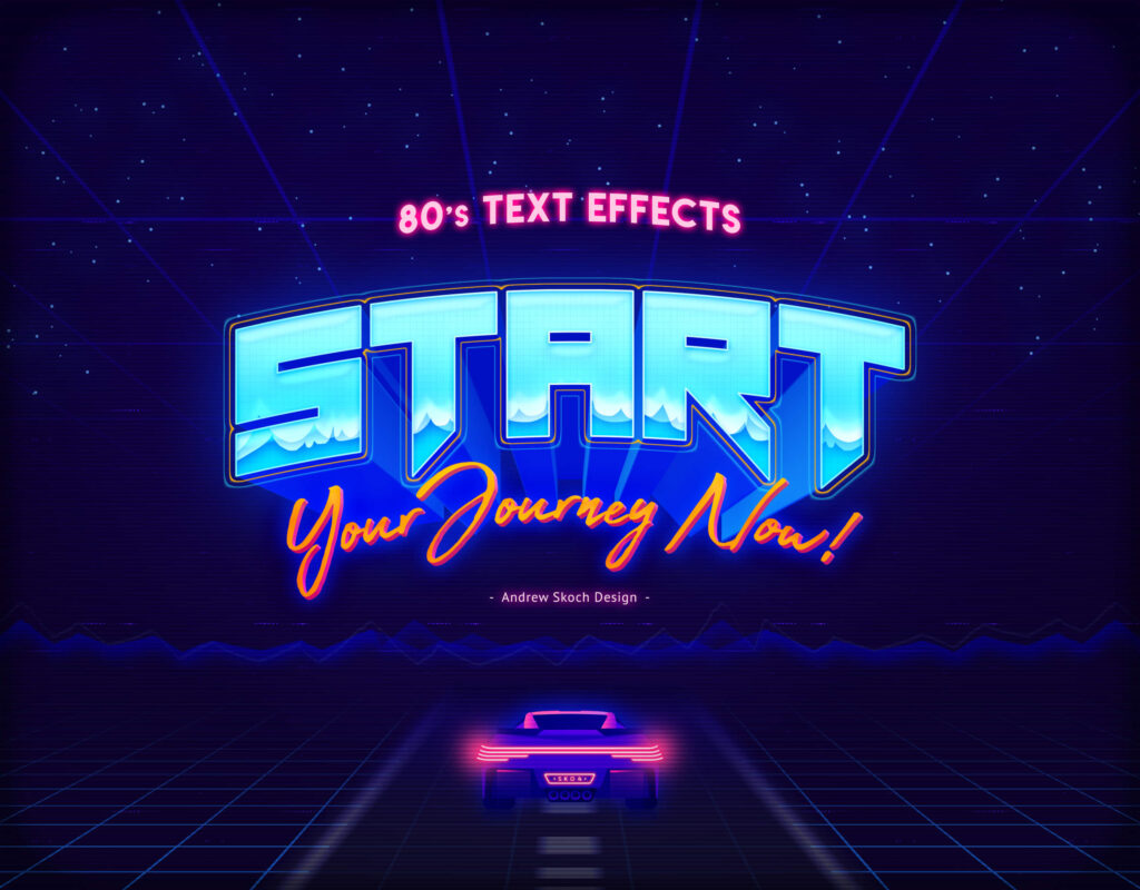 80s Retro Text Effects vol.21