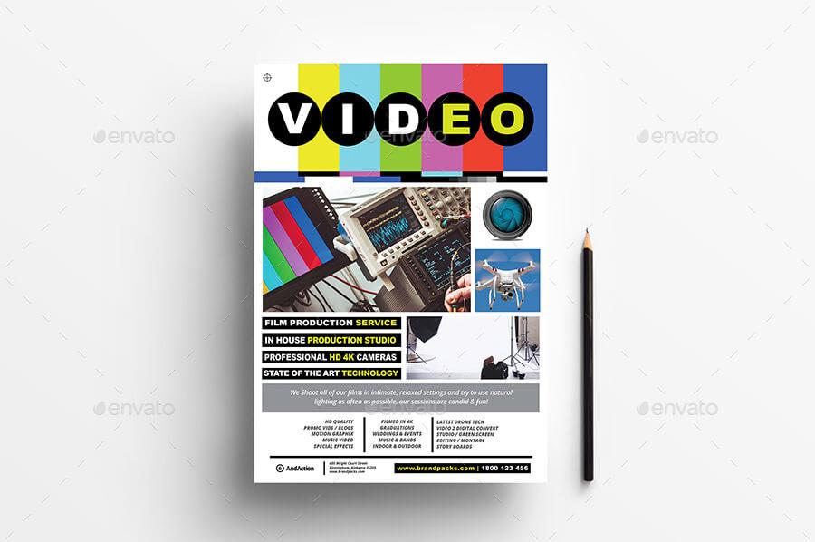 A4 Videographer Advertisement Poster Template