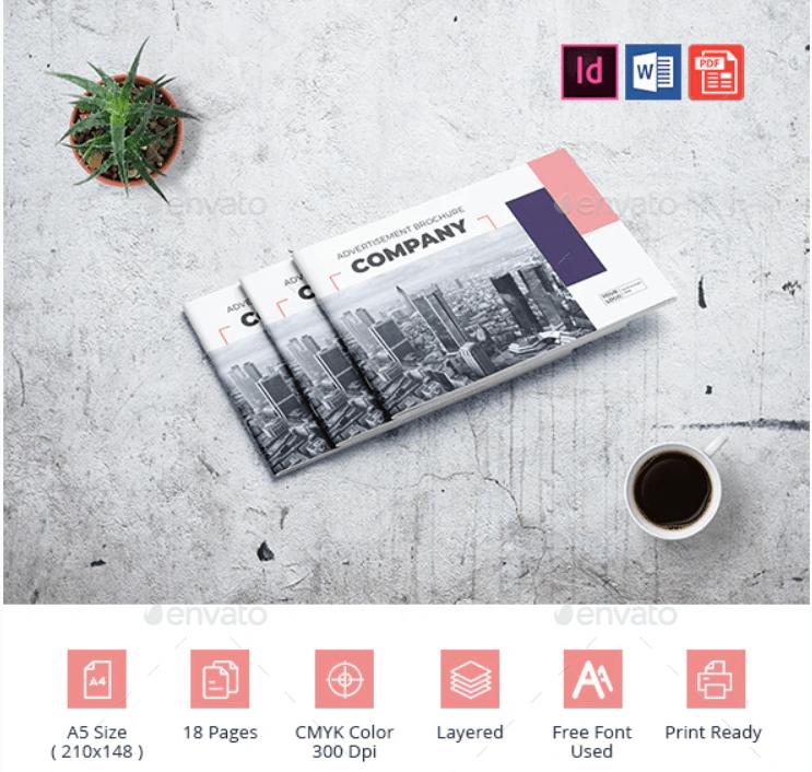 A5 Advertising Company Brochure