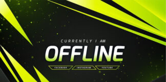 Abstract offline twitch banner template Free Vector (3)