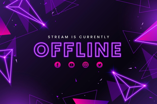 Abstract offline twitch banner template Free Vector (4)