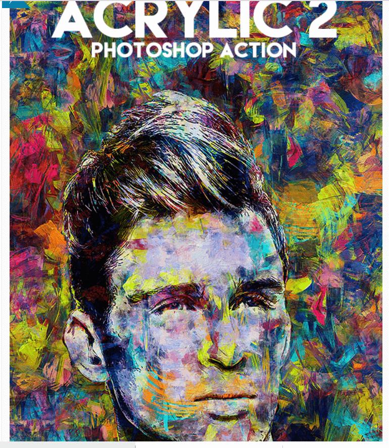Acrylic 2 Photoshop Action
