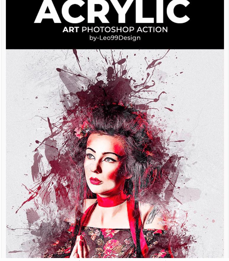 Acrylic Art Photoshop Action