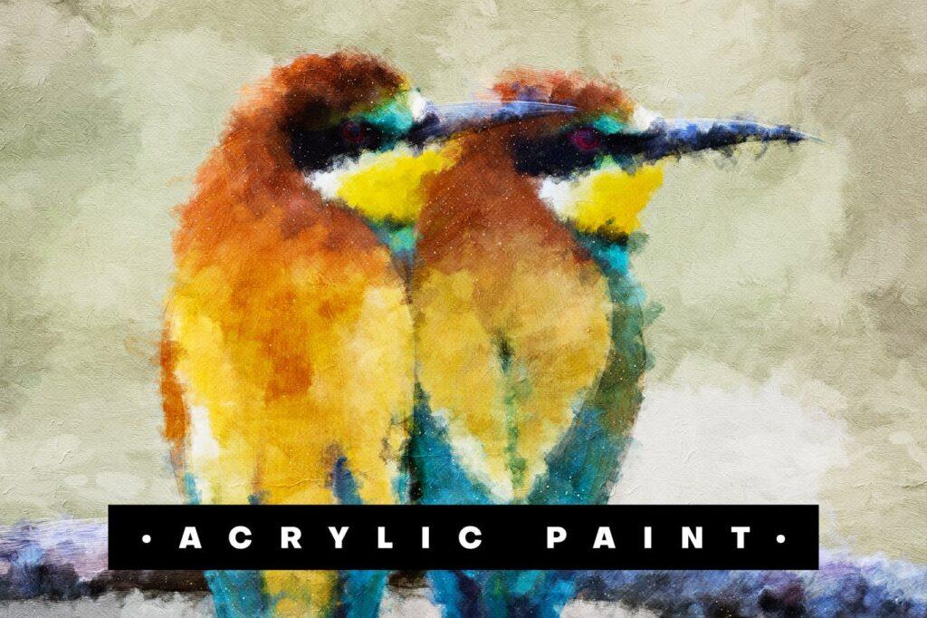 Acrylic Paint Photoshop Action1