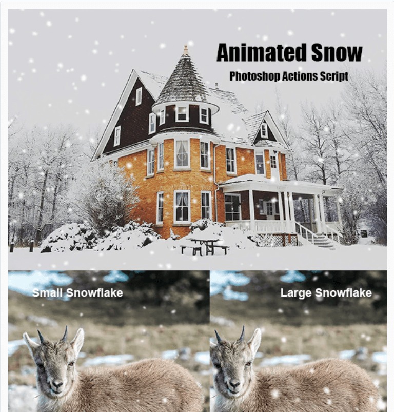 Animated Snow Photoshop Add-on