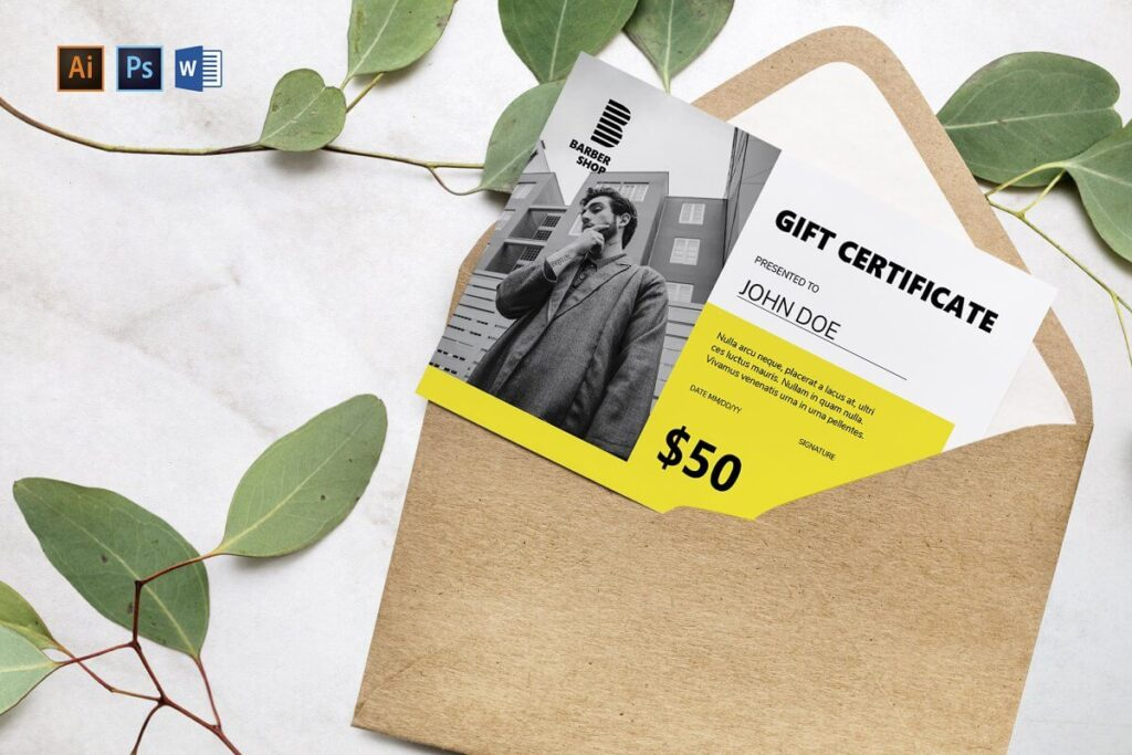 Barbershop Gift Certificate