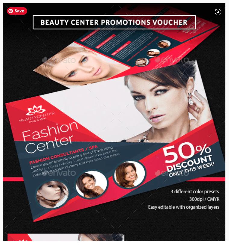 Beauty Center Discount Voucher TemplateBeauty Center Discount Voucher Template