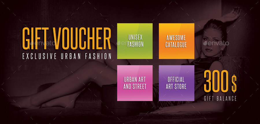 Beauty Fashion Gift Voucher V06