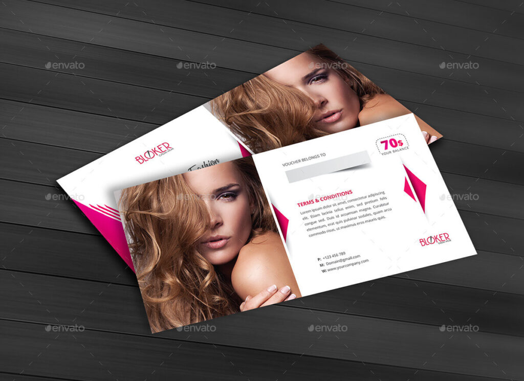 Beauty Fashion Gift Voucher and Postcard Templates1