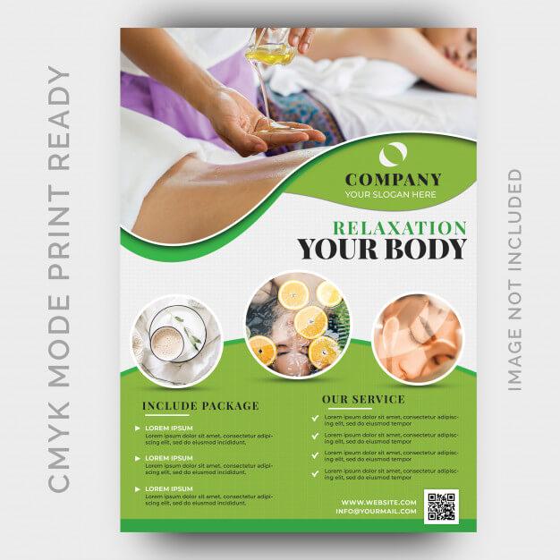 Beauty & spa flyer template Premium Psd (1)
