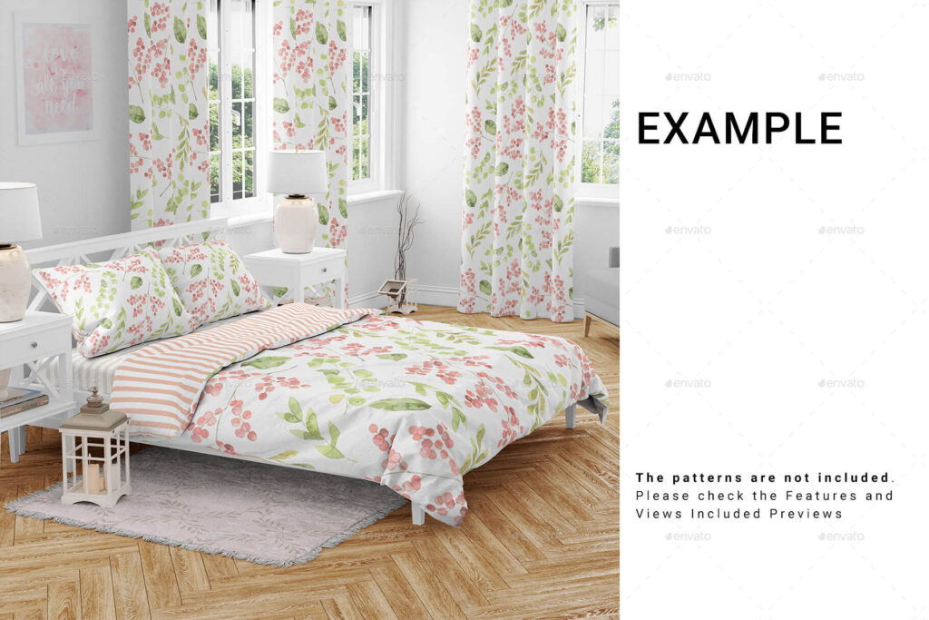 Bedding and Curtains Set