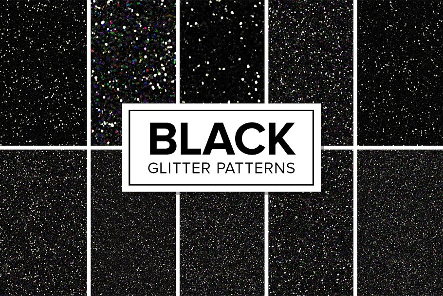 Black Glitter Patterns - Seamless