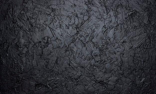 Black stone texture, dark slate background Premium Photo