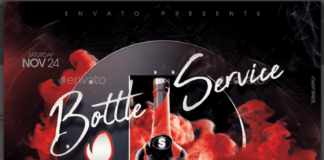 Bottle Service Flyer Template1