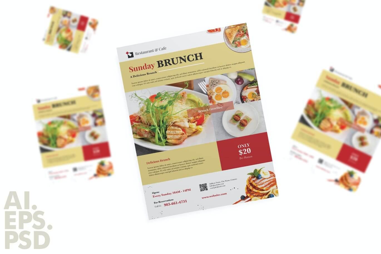 Brunch Food Restaurant Flyer Design