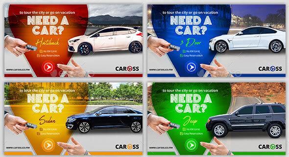 Car Rental Facebook AD Banner