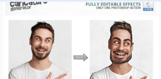 Caricature Maker - Photoshop Actions