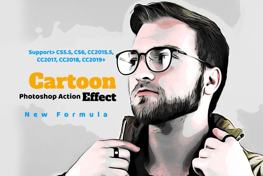 Cartoon Effect Photoshop Action